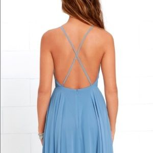 MYTHICAL KIND OF LOVE SLATE BLUE MAXI DRESS
